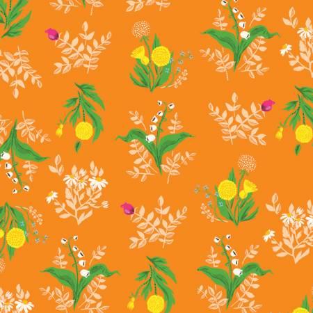 Heather Ross 20th Anniversary Bouquet orange