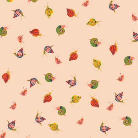 Heather Ross 20th Anniversary Collection Peach Snails