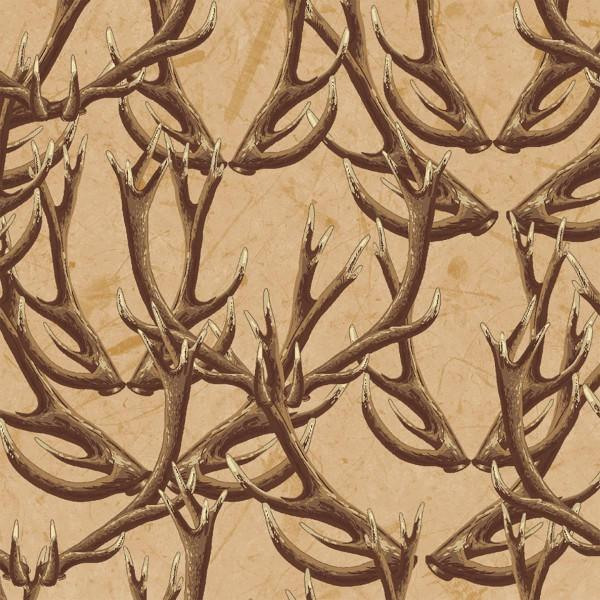 Windham Fabrics - Forest by Whistler Studios -Tan Antlers