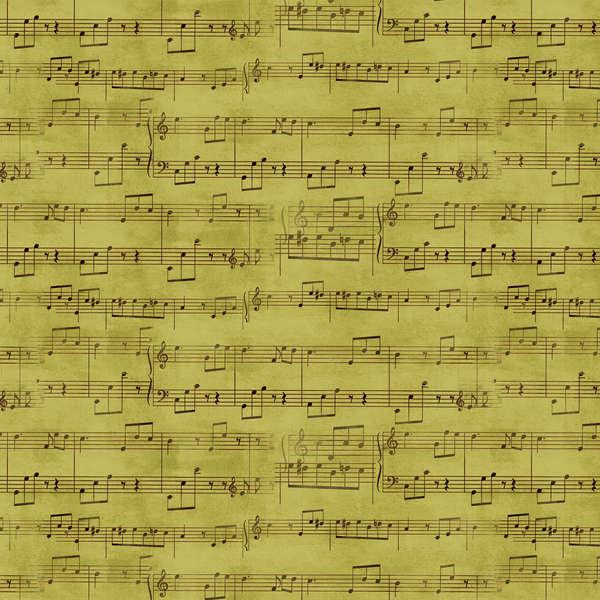 Green Music Notes