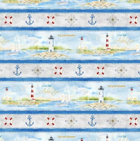 Harbor Lights - Repeating Stripe Multi