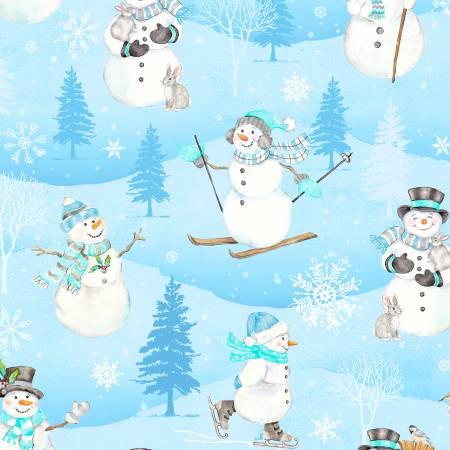 SnowValley Snowmen Blue