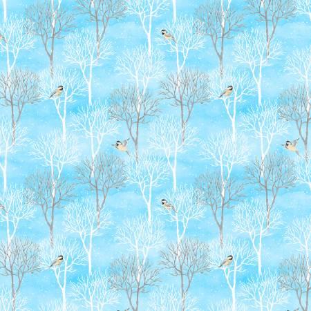 Snow Valley 42456-412 Medium Blue Trees