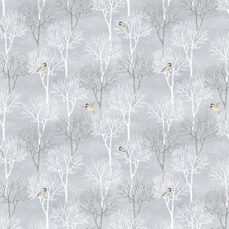 Snow Valley Medium Grey Trees 42456-912