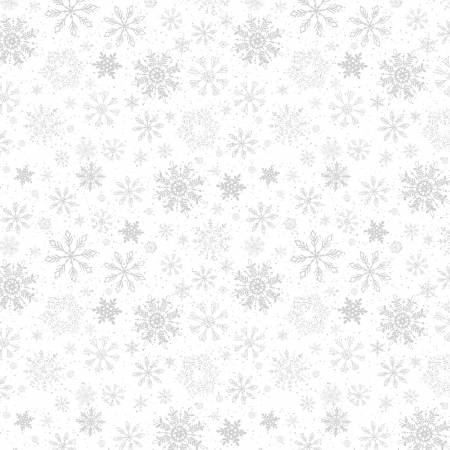 Snow Valley White on White Snowflakes