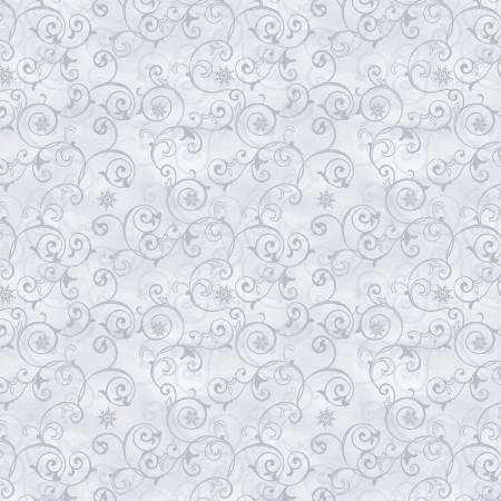 Snow Valley 42458-991 Light Grey Snowflake Scroll