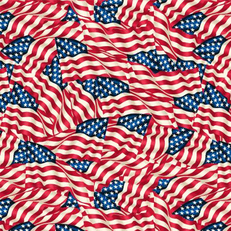 108 Wide American Flags