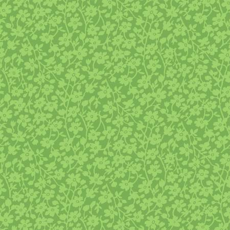 Windham  42466-6 Green Mono Floral 108in Quilt Back