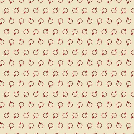 Red Rings on Cream:  Centennial Shirtings by Julie Hendricksen for Windham Fabrics