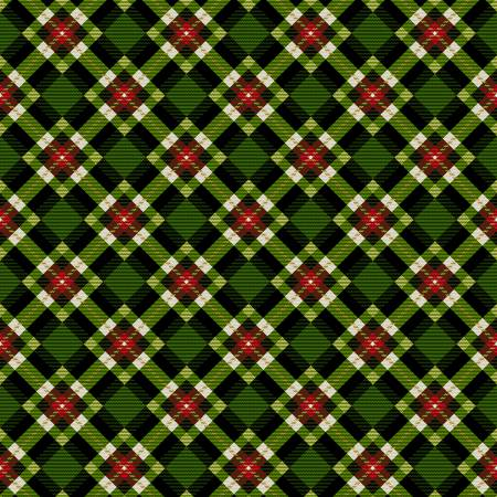 Green Christmas Plaid w/Metallic