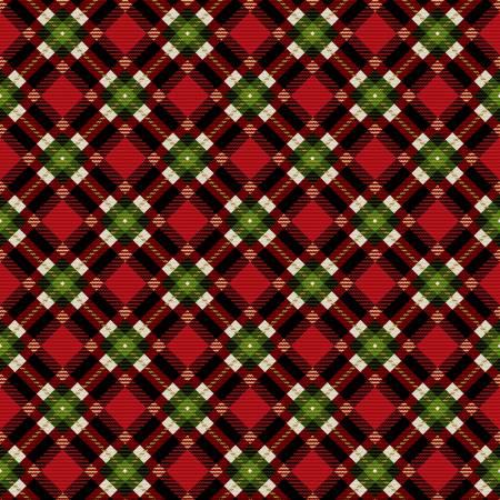 Red Christmas Plaid w/Metallic 4254m
