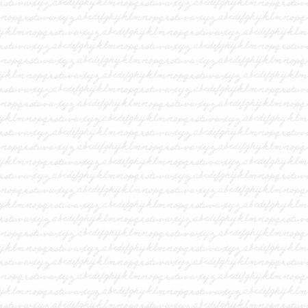 White Out - White on White Alphabet Script