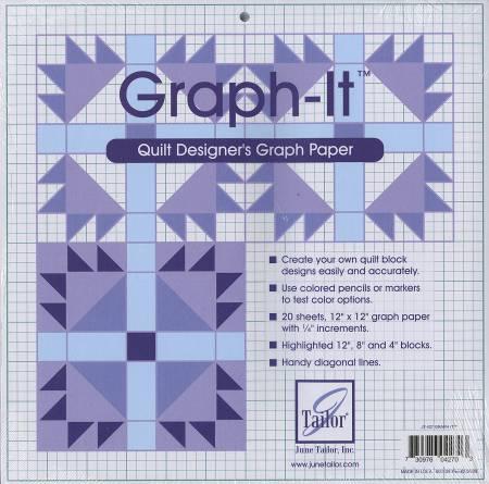graph it quilt designer s graph paper 730976042703