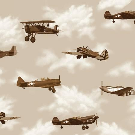 Air Show Antique Planes Beige