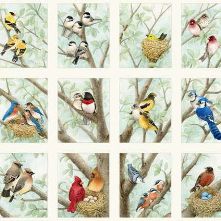 Cream Birds Panel