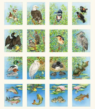 Cream Freshwater Wildlife Panel