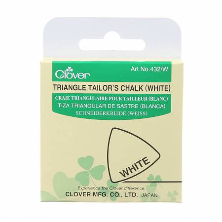 Clover Triangle Tailor's Chalk White