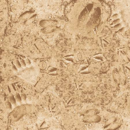 Windham Fabrics - The Great Outdoors by Whistler Studios -Tan Footprints