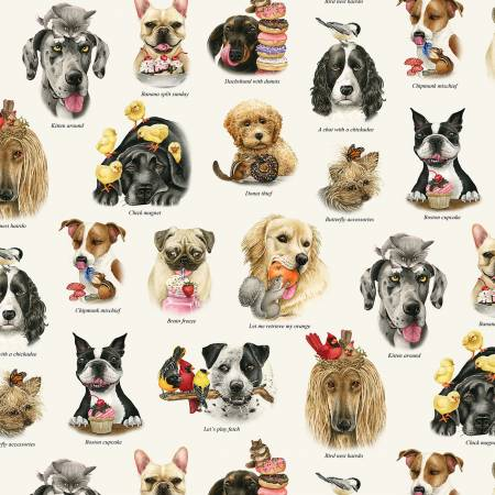 Cream Assorted Dogs