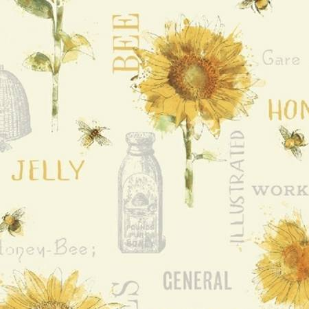 Windham Bee My Sunshine Cream Collage