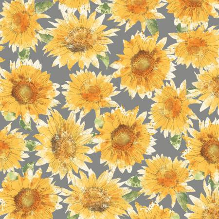 Bee My Sunshine<br>43315-1 Grey Sunflowers