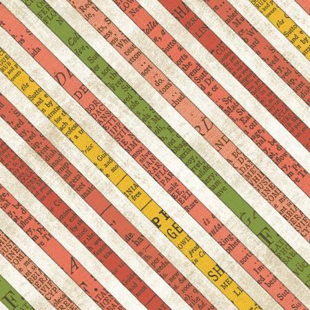 Bookshelf Botanicals - Diagonal Stripe Persimmon