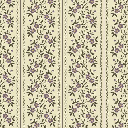 Clayton Purple Floral Stripe