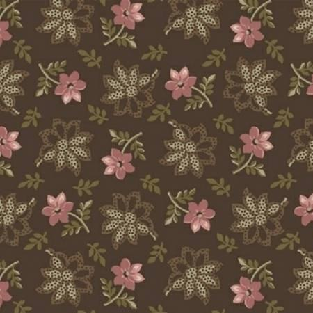 Fabric - Mocha Tossed Floral