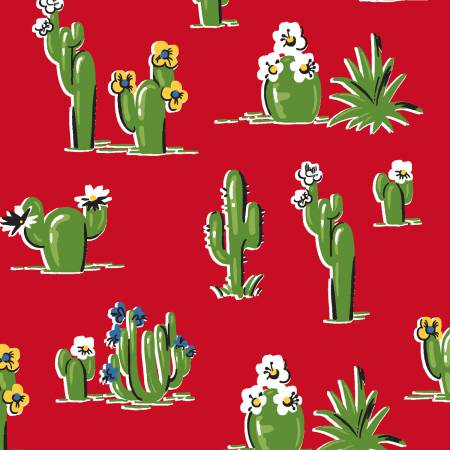 43470-4 Red Cactus - South of the Border