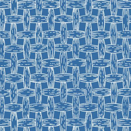 Blue and White Basketweave:  South of the Border by Whistler Studios for Windham Fabrics