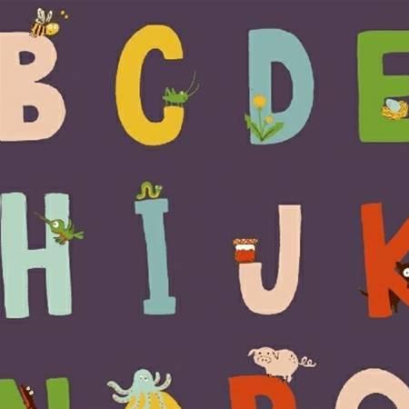Alphabet - Indigo