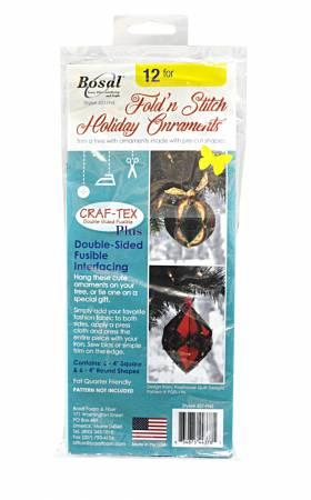 Fold N Stitch Holiday Ornaments Interfacing