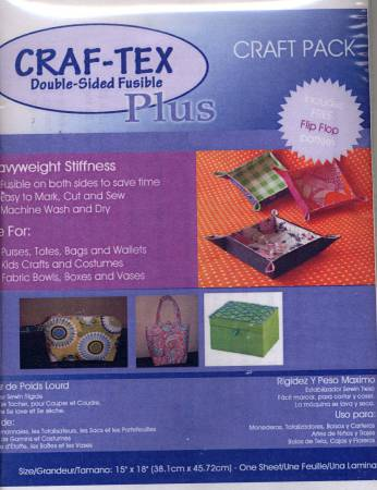 Double Side Fusible Non-Woven Heavyweight Craf-tex Plus 15in x 18in