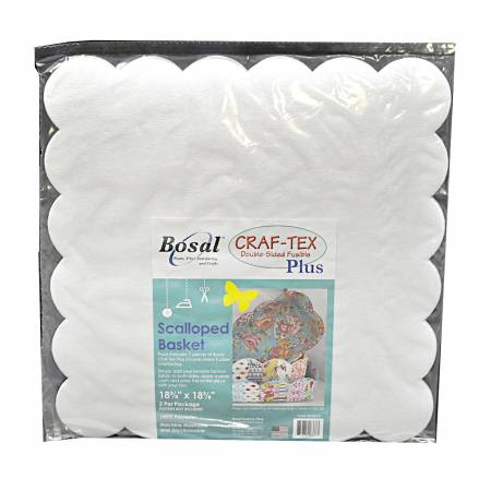 Bosal Craf-Tex Double Sided Fusible - Scalloped Basket 2pk