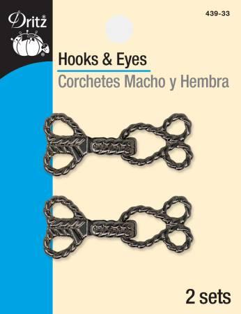 Hooks & Eyes Rope Design Gunmetal