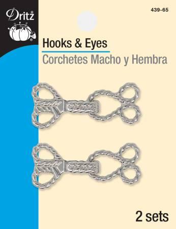 Hooks & Eyes Rope Design Nickel