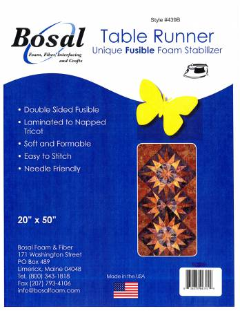 Table Runner Double Sided Fusible Foam 20in x 50in