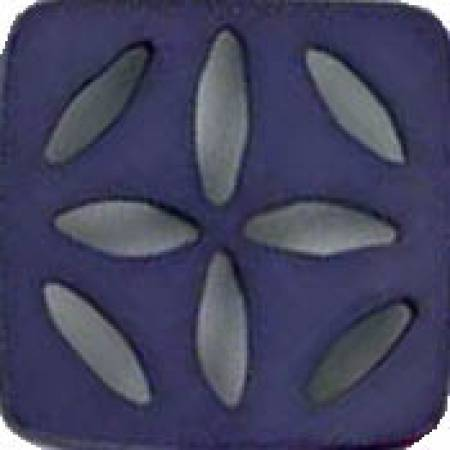 Square Polyamide Cut Out Button - Dark Lilac 2-3/8in