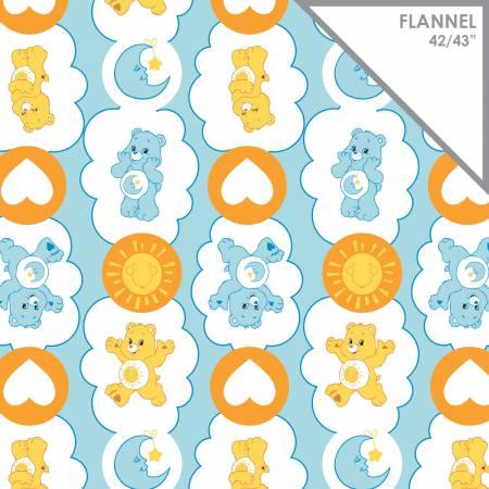 Blue Care Bears Funshine & Bedtime Bears Flannel