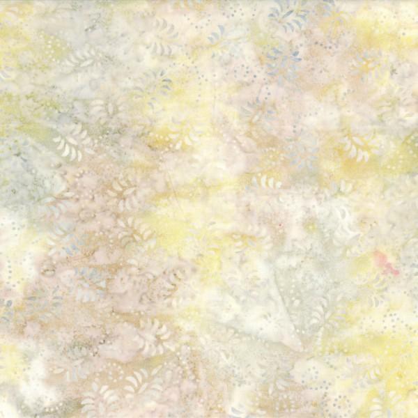 Batik - 106/108in Wide Back - Ivory Dancing Leaves