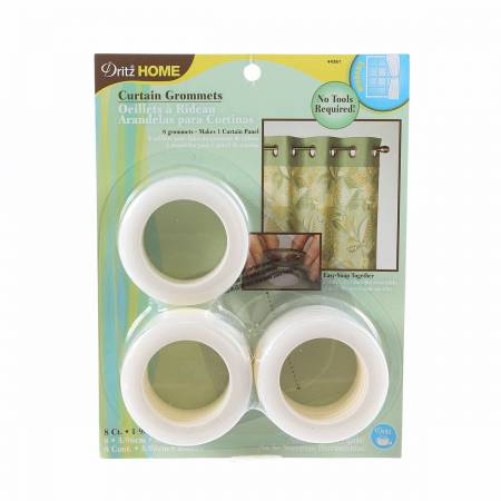 Curtain Grommet Large White 1-9/16in 8ct