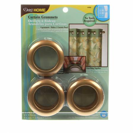 Curtain Grommet Large Brass 1-9/16in 8ct