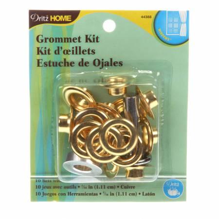Grommet Kit 7/16in Brass 10ct