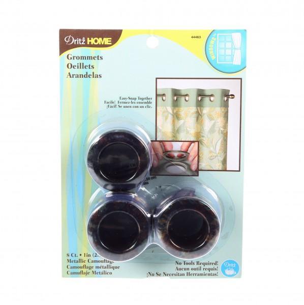 Grommets 1in Metallic Camo - 8ct