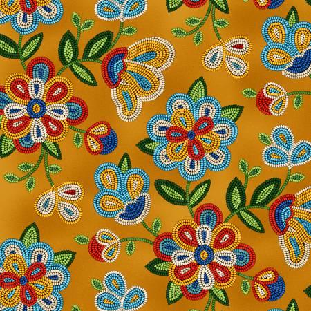 Tucson Moosehide Floral 100% Cotton 42-44 Wide