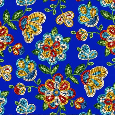 Eliz.Stud.  - Tucson Royal Floral 100% Cotton 42-44 Wide