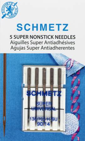 Schmetz Super Nonstick Needle 5ct, Size 90/14