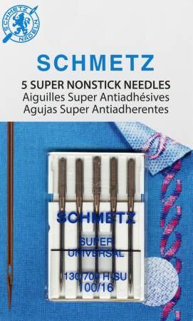 Schmetz Super Nonstick Needle 5ct, Size 100/16