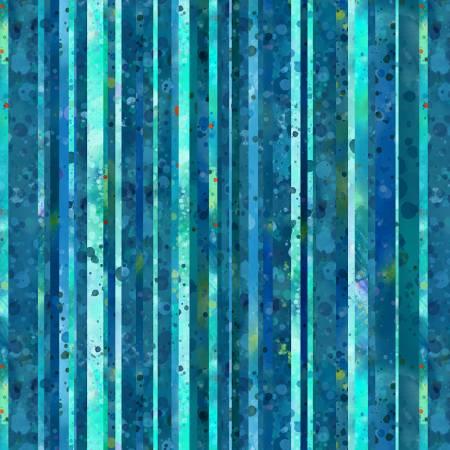 Medium Blue Textured Stripe