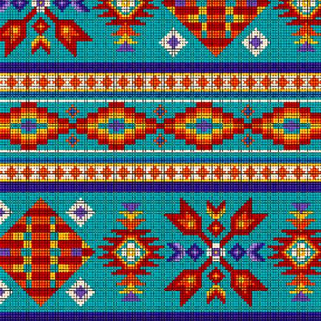 Tucson Turquoise Beaded Stripe 100% Cotton  42-44 Wide